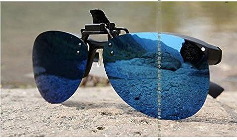 Doxn-Or/Argent/Bleu Verres miroir lunettes de soleil polarisées UV400 ,Blue
