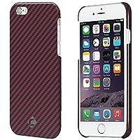 """Case iPhone 6, fibra arammidica CORNMI-Materiale a prova di proiettile, Ultra-sottile, leggero, custodia di qualità superiore in fibra di carbonio per iPhone 6, PLASTICA, Red - Glossy, iPhone 6 4.7"""" Matte"""