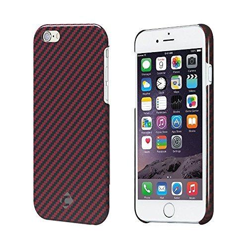 "Case iPhone 6, fibra arammidica CORNMI-Materiale a prova di proiettile, Ultra-sottile, leggero, custodia di qualità superiore in fibra di carbonio per iPhone 6, PLASTICA, iPhone 6 Plus 5.5"" -Red Glossy, iPhone 6 Plus 5.5"" -Red Glossy"