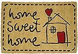 Koko Doormats - Zerbino 'Sweet Home', in PVC e Cocco, 60x 40cm