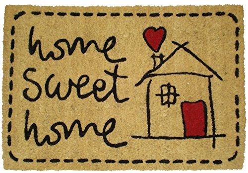 Felpudos divertidos Sweet Home Felpudo, Coco, 60 x 40 cm
