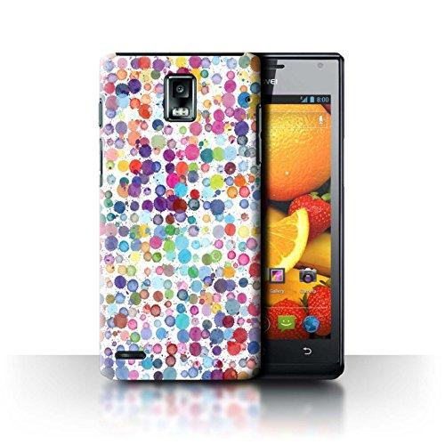 Stuff4 Hülle / Case für Huawei Ascend P1 / Bunte Punkte Muster / Wintermode Kollektion