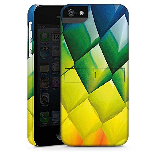 Apple iPhone X Silikon Hülle Case Schutzhülle Rauten Bunt Struktur Premium Case StandUp