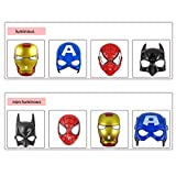 1PC Comic super eroe a forma di bambini maschera per cosplay party accessori