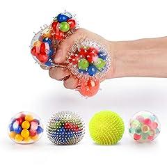 Idea Regalo - Fansteck Sqiushy Balls, [Set da 4] Kawaii Anti-Stress Ball / Palle per alleviare lo stress per Bambini e Adulti, Palla di Gomma Sensoriale