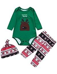 Zolimx Weihnachten Pyjamas Nachtwäsche Passende Set Kind Baby Jungen Mädchen Cartoon Bluse Hosen Familien Pyjamas Passender Christmas Set