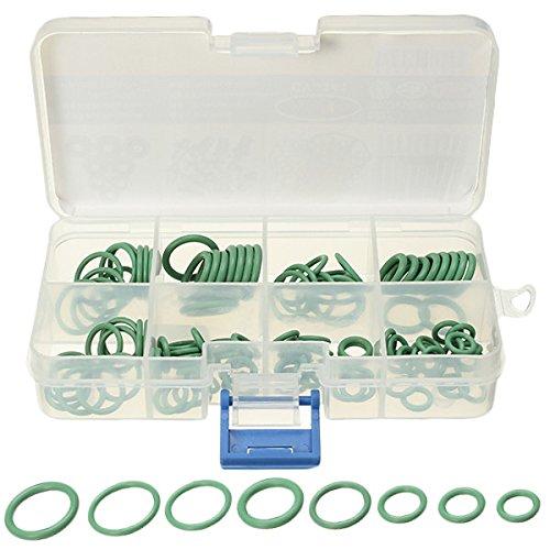 GOZAR 105 Pcs 8 Taille Hnbr Vert Voiture Air Condition O Anneaux Joint Sceau Anneaux Joints De Réparation Outil Kit Boîte
