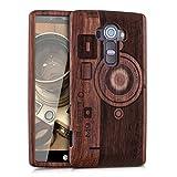 kwmobile LG G4 Hülle - Handy Schutzhülle aus Holz - Cover Case Handyhülle für LG G4