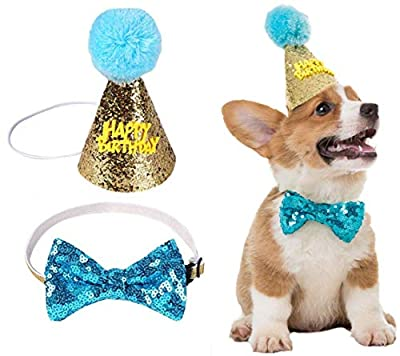 SCIROKKO Dog Birthday Party Supplies - WOOF Letter Ballons - 20Pc Biodegradable Latex Balloons - Dog Birthday Hat and Bow, for Pet Puppy Birthday Decorations by SCIROKKO