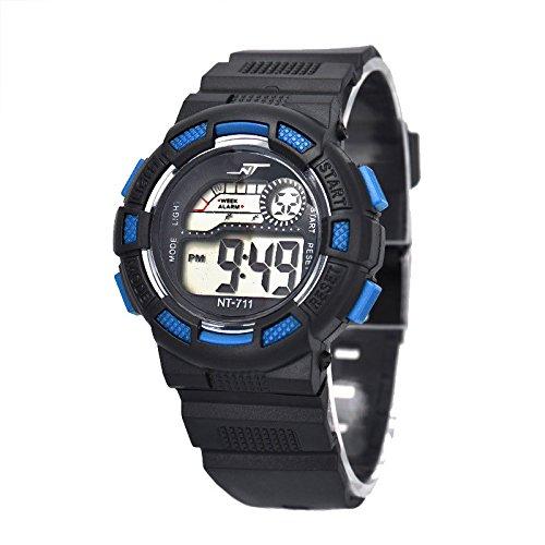 Sannysis Impermeables para ni?os Deportes Digitales reloj de pulsera - azul