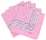Lot de bandanas 100% Coton paisley foulard fichu - Rose - Lot de 20 identiques