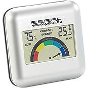 PEARL Digitales Hygrometer mit Thermometer mit grafischer Anzeige