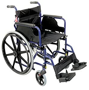 Aidapt Deluxe Self Propelled Steel Wheelchair,5 Year Warranty on the frame,Offers independence and peace of mind.Folds Easily to go in car boot, Features include palm activated, quick-release rear wheels, luxury padded upholstery, half folding backrest, f