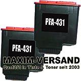 2x Tintenpatronen kompatibel zu Philips PFA-431 Schwarz / Black mit Füllstandsanzeige (KEIN Original) Drucker-Patronen Set