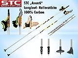 STC Avanti 100% Carbon Langlauf Skating Roller Stöcke
