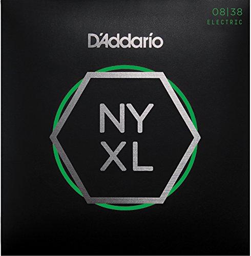 D'Addario NYXL0838 Super Light reißfester E-Gitarren Saite