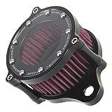 Filtre à air de filtre à air See-Thru noir de moto pour Harley Sportster 1200 XL...