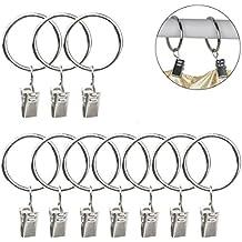 Clip di anelli per tenda, Sumersha–Mollette con anello in metallo per tendaggi