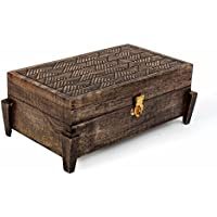 San Valentino regalo, Fatto a mano di legno Gioielli Gingillo keepsake conservazione scatola organizzatore con geometrico modelli