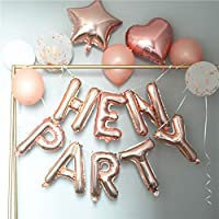 the GreatTony Hen Party Balloon Banner Pack Rose Gold Self Inflating Hen Party Balloons for Party Decorations,Rose Gold
