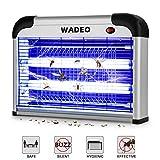 WADEO Lampe Anti Moustique Electrique Intérieur et Extérieur Tue Mouches 20W UV LED, Piège à Moustique Tueur pour Maison Bureau, Efficace Portée 50m²