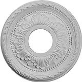 Ekena Millwork CM11PM 11 3/8-Inch OD x 3 5/8-Inch ID x 7/8-Inch Palmetto Ceiling Medallion by Ekena Millwork
