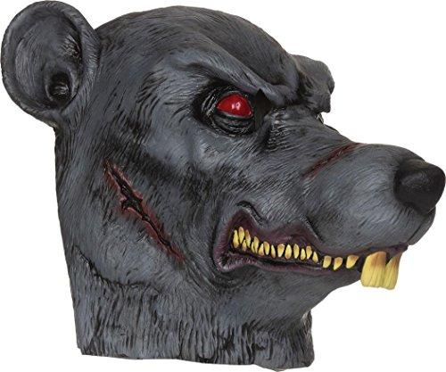 Erwachsene Halloween Erschreckend Zombie Kostüm Party Zubehör Mit Kapuze Gummimaske - Ratte Maske, One (Zubehör Ratte Kostüm)