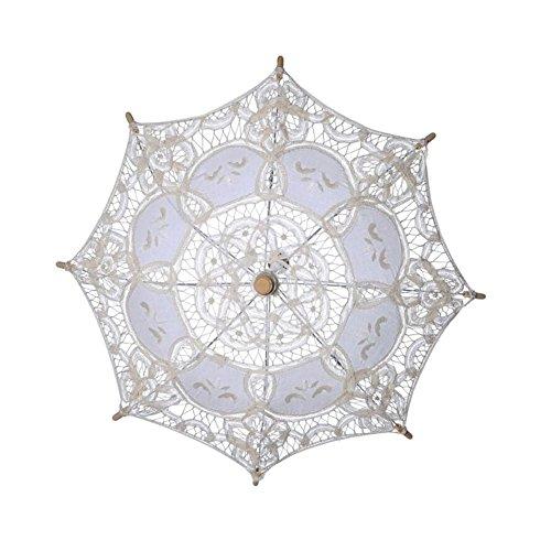 damai-shopSonnenschirm Spitze Spitze Sonnenschirm Regenschirm FüR Braut Brautjungfer Hochzeit Fotografie Prop, A, 60*52cm (Rüschen Sonnenschirm Spitze)