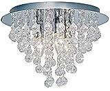 Nino Leuchten Deckenleuchte London/Durchmesser: 38 cm/Chrom, Glasbehang / 3-flammig 63040306