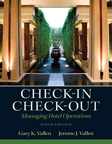 [(check-in check-out : managing hotel operations)] [by (author) gary k. vallen ] published on (august, 2012)