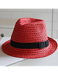 Women's leisure round top volume soulful court rouge soleil plage hem jazz officiel straw hat