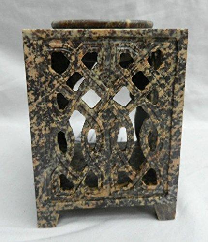 Speckstein Duft (Generic gn Fr urner Speckstein, groß, aus Speckstein geschnitzt, keltisches Design, Duft Duftlampe, aus Speckstein geschnitzt gn Fr, Ce<1&1297*1>)