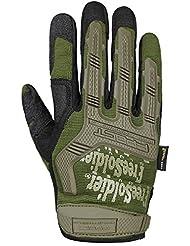 Soldado libre al aire libre hombres de dedo completo guantes de ciclismo para deporte camping Escalada formación senderismo antideslizante guantes de ciclismo, hombre, color Army Green, tamaño L