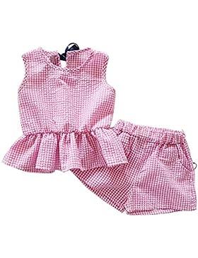 Brightup 2018 estate vestiti set, ragazzi ragazze volant gilet camicetta pantaloncini tuta, rosa, blu, cachi,...