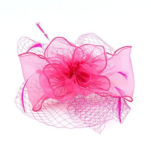 Kopfschmuck der Frau Braut mit Stirnbänder Grids für Party Modern Wedding Organza mit Feder - Fox Hut Kostüm