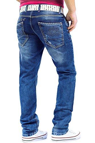 Cipo & Baxx Herren Jeans Hose Denim Mens Pants Straight Cut Business Blau