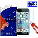 2x iPhone 6S / 6 Ultra-Klar plt24 Glasfolie Panzerglas Schutzfolie Displayschutzglas Schutzglas ...