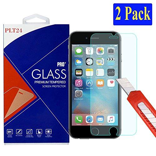 2x iPhone 6S / 6 Ultra-Klar plt24 Glasfolie Panzerglas Schutzfolie Displayschutzglas Schutzglas Hartglas 3D Touch Kompatibel für Apple iPhone 6 6S (2 Stück)