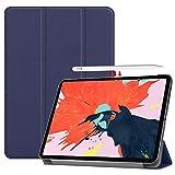 Gosento Coque iPad Pro 12.9 2018, iPad Pro 12.9 2018 Étui Housse, Étui avec Support Fonction et Veille/Réveil Automatique, pour iPad Pro 12.9 2018 Bleu