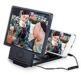 SummerYoung 3D Lupe, HD Video-Verstärker mit klappbarer Halter Ständer für Smartphone und Tablet