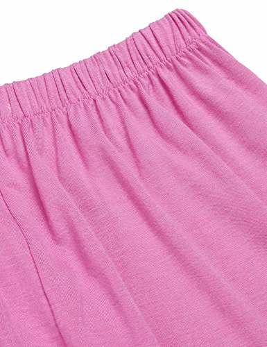 Ekouaer Damen Nachtwäsche Träger Nachthemd Schlafanzüge Pyjama Set Rosa