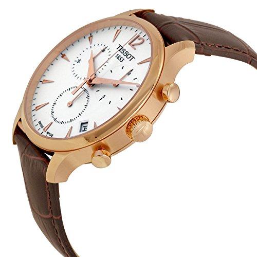 742ab6feef6 Tissot Men s T0636173603700 Tradition Analog Display Swiss Quartz Brown  Watch