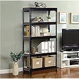 "LILAC MDF Wood Adjustable 5-Shelf Unit Display Storage Rack {5 - SECTION } 5"" Ft [H] X 2"" Ft [L] X 1"" Ft [D]"