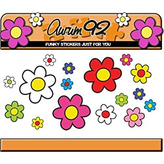 Aurum92 30 Funky Daisy Stickers