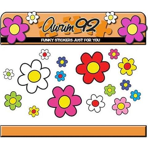 Aurum92 - Adesivi di margherite, 30