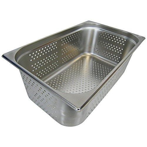 GN 1/1 Gastronormbehälter GN-Behälter Edelstahl 28 Liter Tiefe 200mm GELOCHT