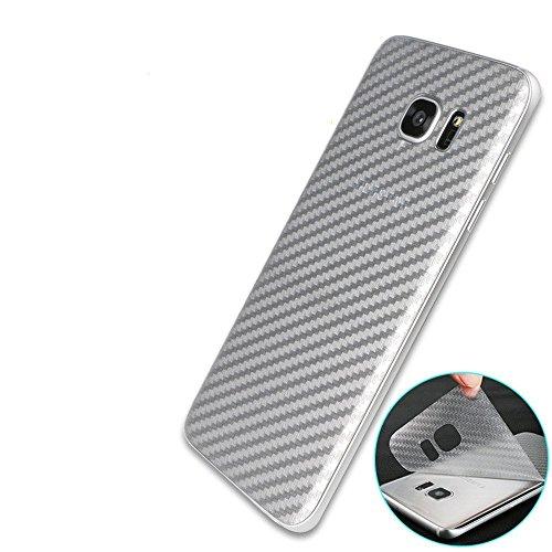 Yidai-Silu 3pcs Galaxy S8 Rückseite Folie, 【Kohlefaser Atmungsaktiv Struktur, Anti-Rutsch, Anti-Fingerabdruck】 Kratzfest Back Klebefolie für Samsung Galaxy S8 5,8 Zoll Protector Film