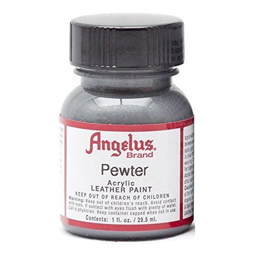 (Angelus Acryl Leder Farbe 118ml / 4oz (Zinn/Pewter))