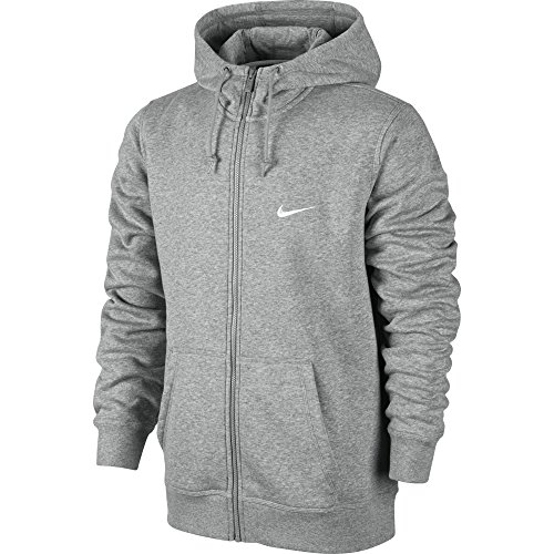 Nike Herren, Kapuzenpullover mit durchgehendem Reißverschluss, Mehrfarbig (Dunkel Heidekraut Grau/weiß), XL Alter Hoody