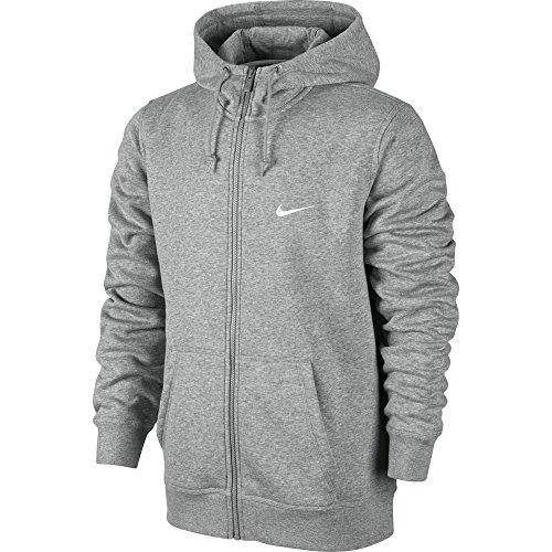 Nike Herren Kapuzenjacke Sweat Club Dunkel Heidekraut Grau/weiß
